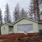 A nearly rebuilt property in Cobb Mountain.