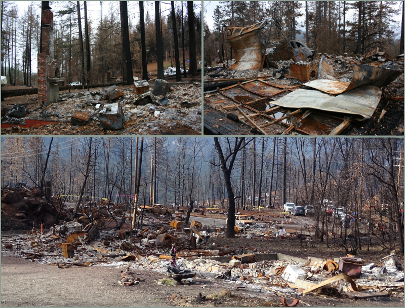 The remains of properties after the Valley fire.